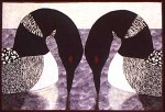Courting Loons - a quilt by Diane Becka