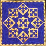 Blue Feathers - a miniature quilt by Diane Becka