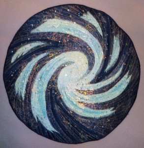 Milky Way - zipper sculpted fiber art by Diane Becka