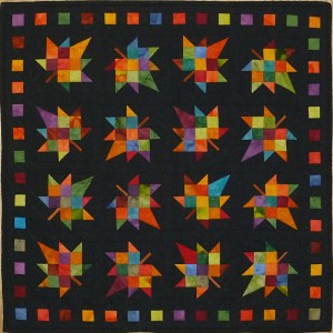 Tumbling Leaves - a miniature quilt by Diane Becka