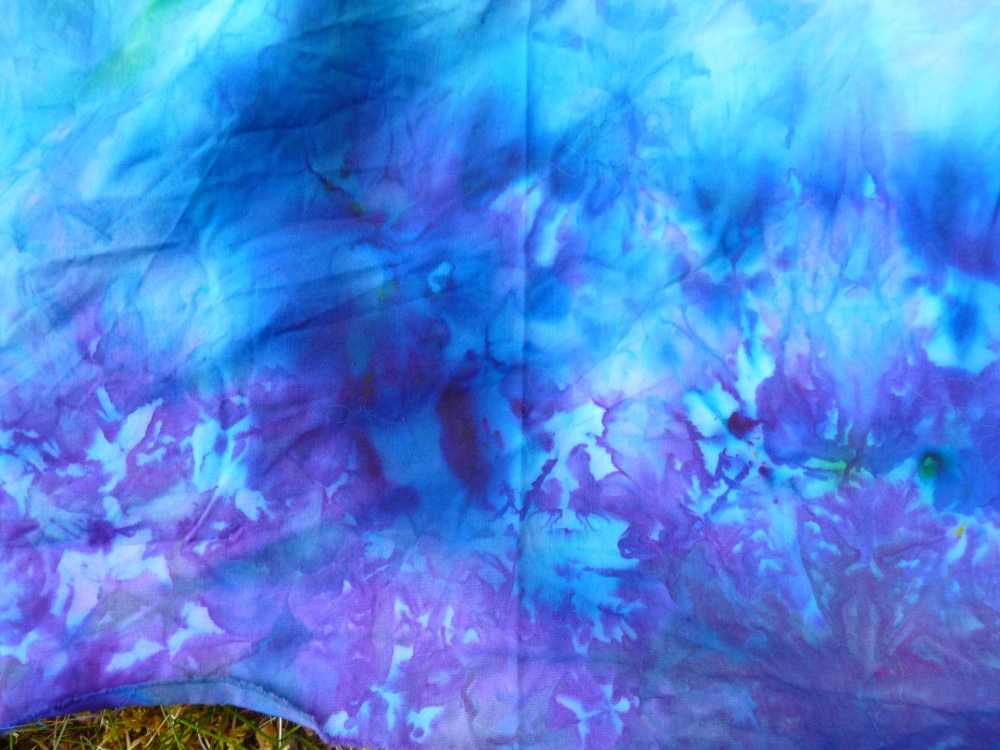 ice dyed fabric by Diane Becka