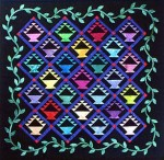 Almost Amish Baskets - a miniature quilt by Diane Becka